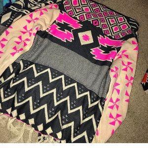 shophopes Sweaters - Shop hopes cardigan neon fringe S/M